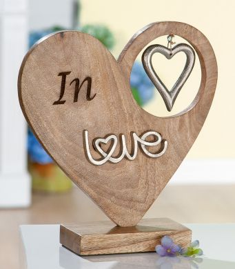 "Holz Herz ""In Love"""